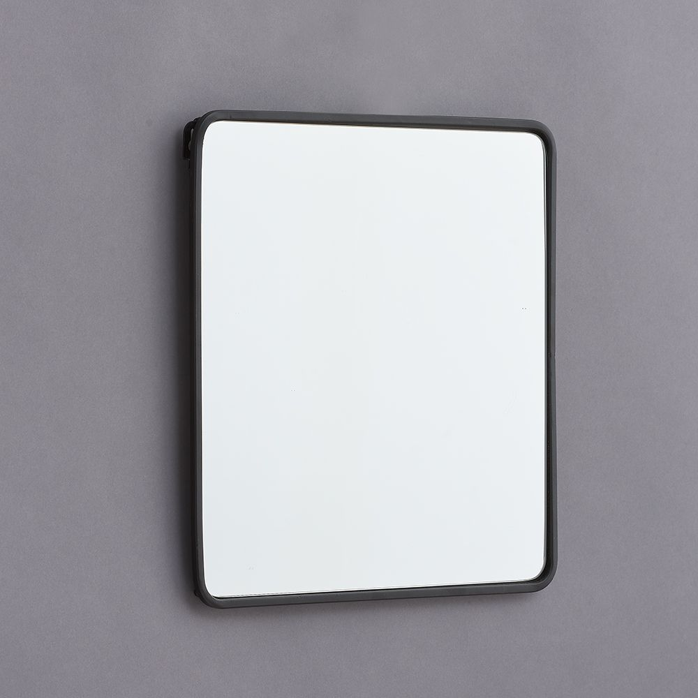 Metal Framed Mirror In Black White Blue And Yellow